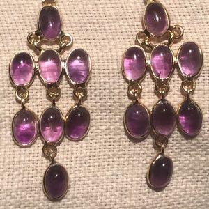 Amethyst Chandelier Earrings NWOTS